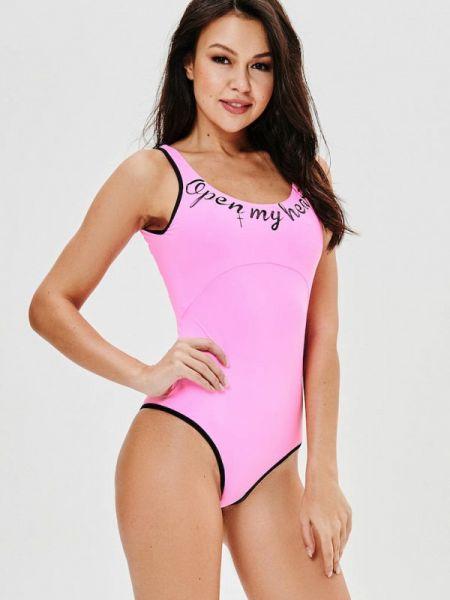 Плюшевый розовый слитный купальник Jolifashn