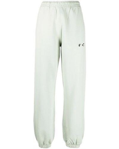 Spodnie dresowe bawełniane - białe Off-white