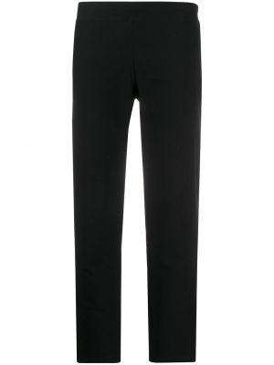 Черные брюки из вискозы с кокеткой Eileen Fisher