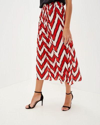 Плиссированная юбка красный Jacqueline De Yong