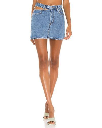 Хлопковая синяя юбка с карманами винтажная Bardot