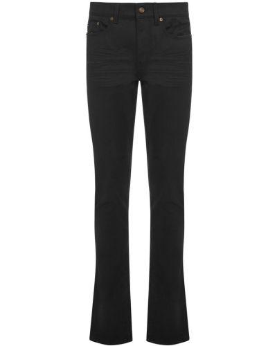 Mom jeans z niskim stanem - czarne Saint Laurent