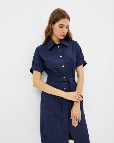 Платье рубашка - синее Shovsvaro