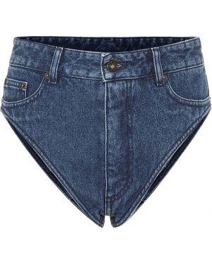 Однобортные джинсовые шорты со стразами Y/project