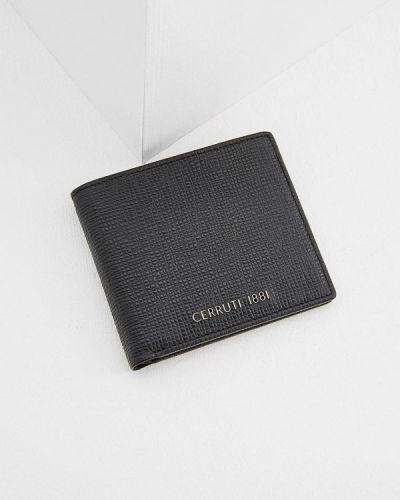 Черный кожаный кошелек Cerruti 1881