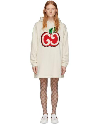 Платье макси с пайетками с капюшоном Gucci