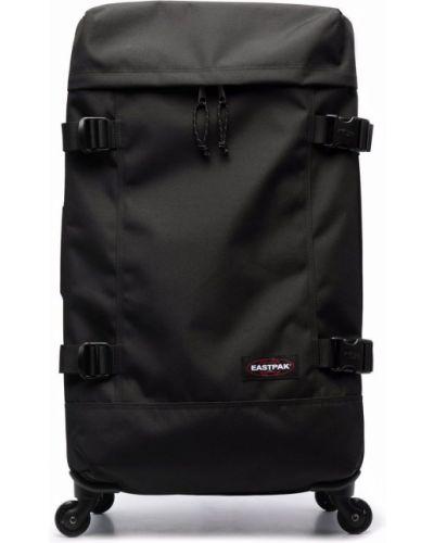 Черная сумка среднего размера на молнии с нашивками Eastpak