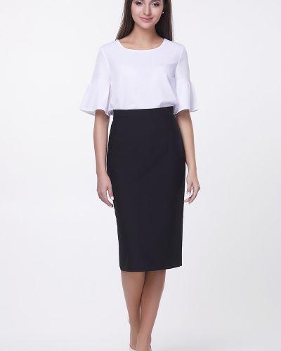 Костюмная юбка карандаш с поясом для офиса Valentina