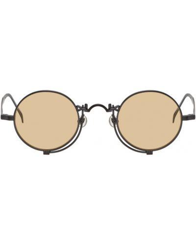 Черные солнцезащитные очки круглые матовые Matsuda