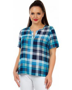 Блузка в клетку из штапеля Liza Fashion