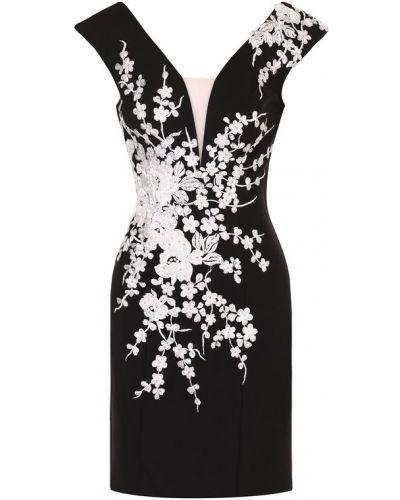 Платье мини с цветочным принтом приталенное с бисером Basix Black Label