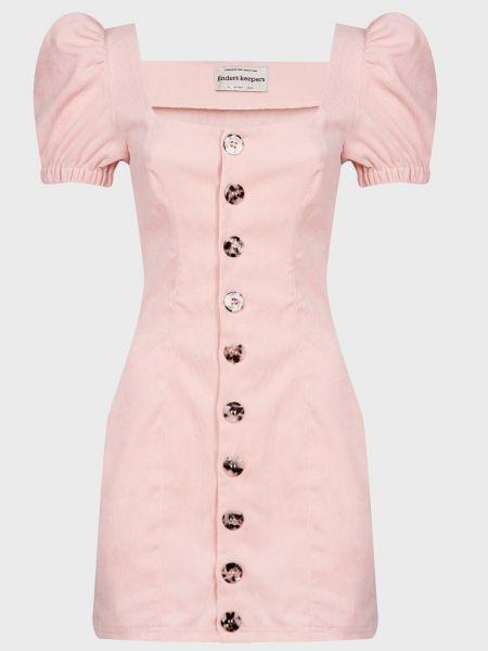 Хлопковое розовое платье на пуговицах Finders Keepers