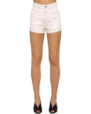 Белые кожаные джинсовые шорты с карманами Givenchy