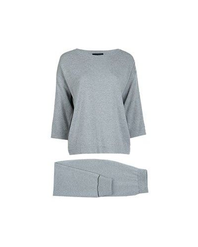 Кашемировый спортивный костюм - серый Fabiana Filippi