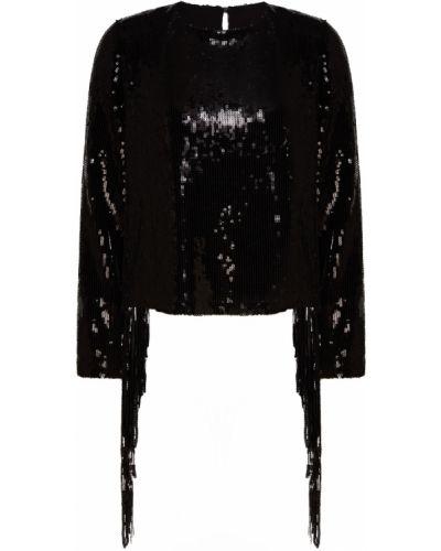 Блузка с длинным рукавом с пайетками прямая Beribegi