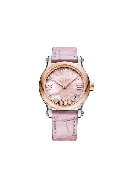 Zegarek sportowy - różowy Chopard