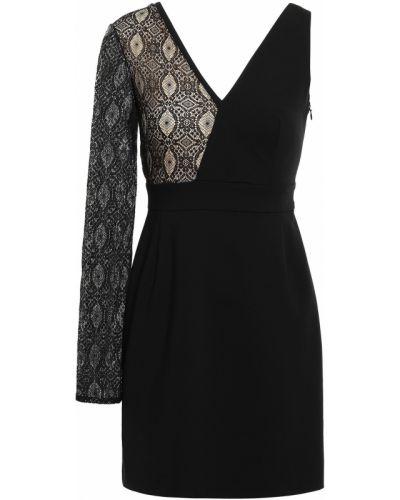 Кружевное черное платье мини на крючках Versus Versace