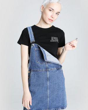 Платье мини джинсовое на бретелях Ostin
