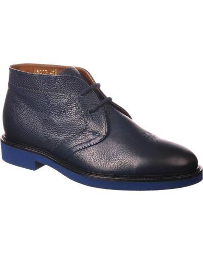 Кожаные ботинки - синие Doucal's