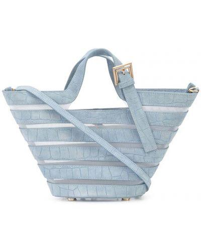 Кожаная сумка через плечо - синяя Cult Gaia