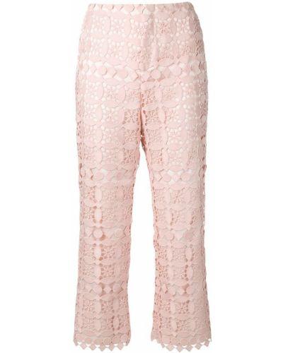 Укороченные брюки розовый с завышенной талией Sly010