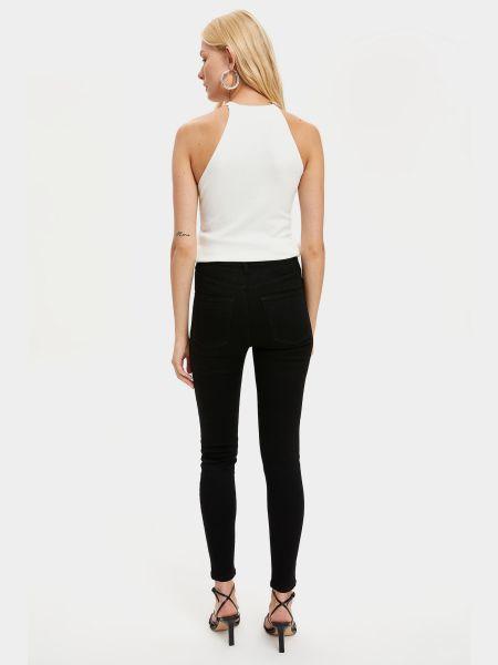 Черные джинсы с карманами на молнии Defacto