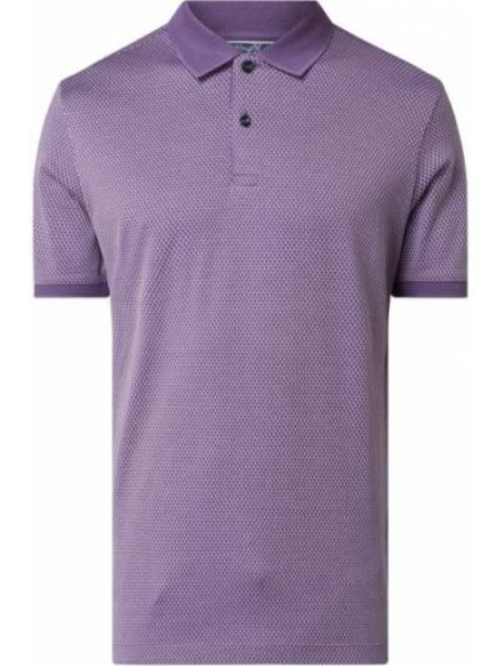 T-shirt bawełniana - fioletowa Bugatti