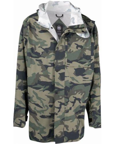 Зеленая длинная куртка с капюшоном с длинными рукавами Y/project