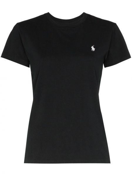Прямая белая футболка с вырезом Polo Ralph Lauren