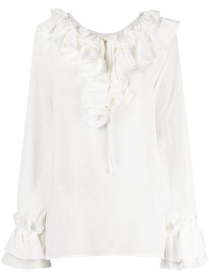 С рукавами белая блузка оверсайз P.a.r.o.s.h.