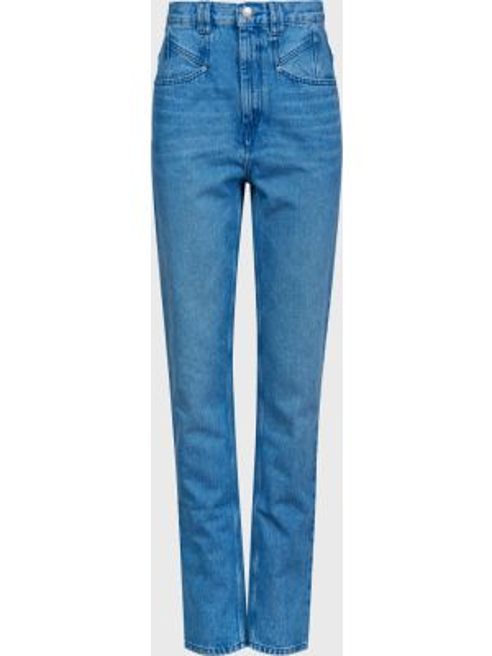 Хлопковые джинсы на молнии Isabel Marant