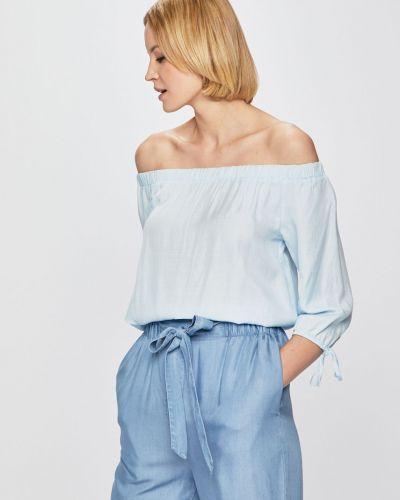 Блузка с открытыми плечами однотонная из вискозы Medicine