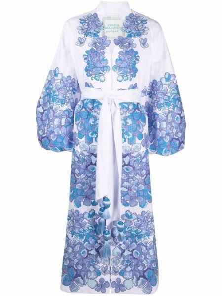 Платье с V-образным вырезом - белое Yuliya Magdych