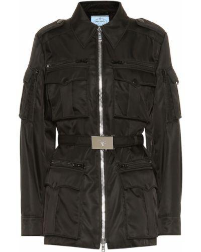 Куртка милитари - черная Prada