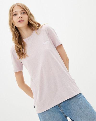 Розовая зимняя футболка Superdry