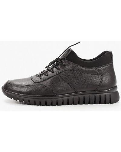 Кожаные черные ботинки осенние Pierre Cardin