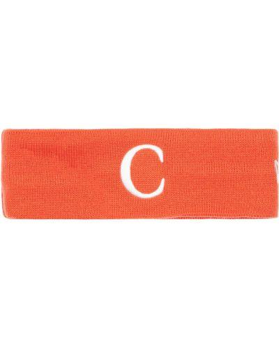 Pomarańczowy czapka beanie z haftem Carrots