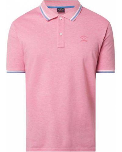 Różowy t-shirt bawełniany Paul & Shark