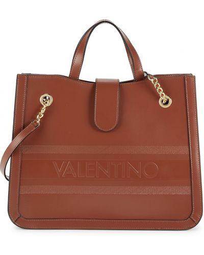Кожаная косметичка - коричневая Valentino By Mario Valentino