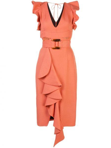 Платье миди с декольте на молнии Patbo