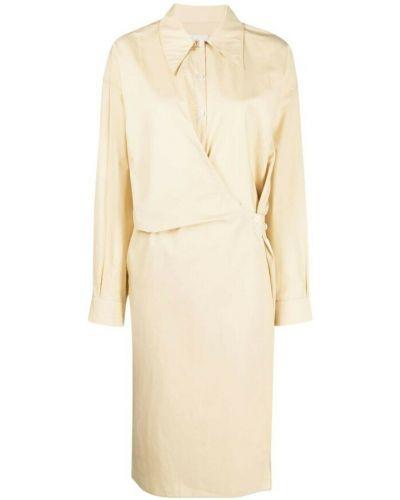 Beżowa sukienka Lemaire