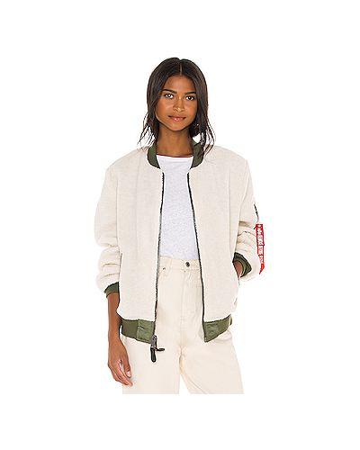 С рукавами белая куртка двусторонняя Alpha Industries