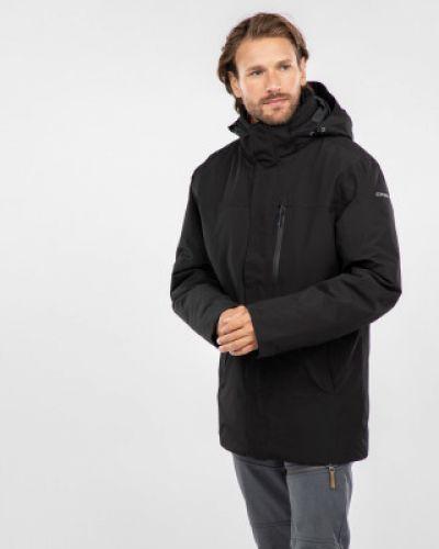Куртка с капюшоном утепленная черная Icepeak