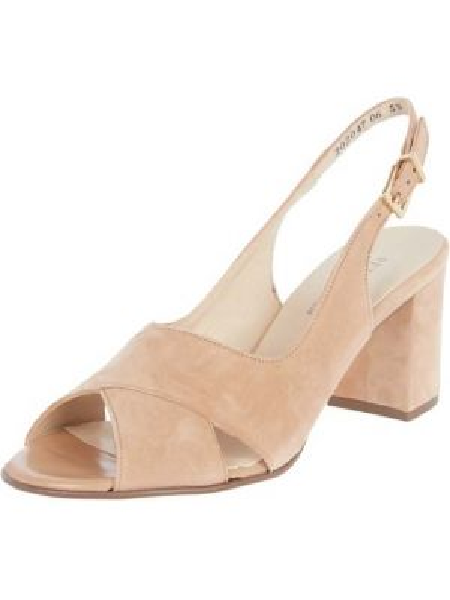 Sandały skórzane - brązowe Peter Kaiser