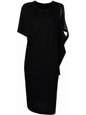 Sukienka mini bawełniana - czarna Issey Miyake