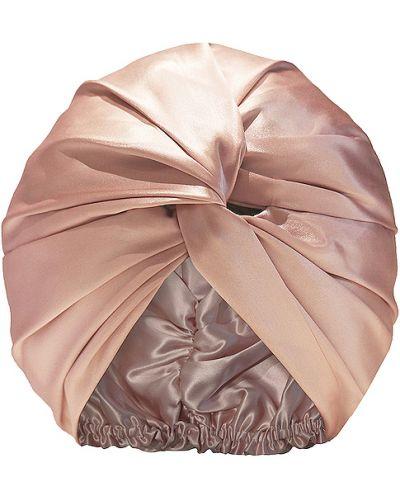 Różowy turban z jedwabiu Slip
