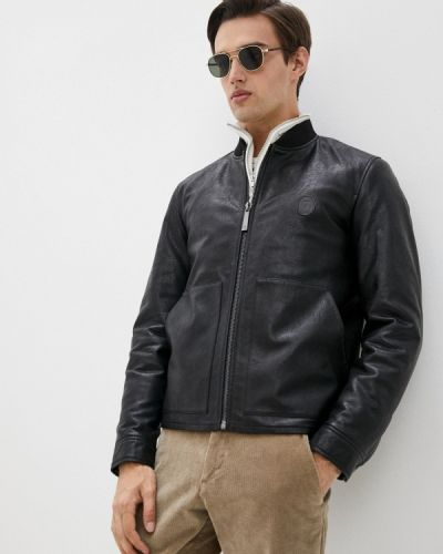 Черная куртка осенняя Trussardi