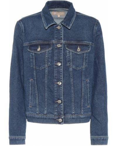 Хлопковая ватная синяя джинсовая куртка 7 For All Mankind
