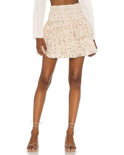 Деловая хлопковая юбка мини с подкладкой Cleobella