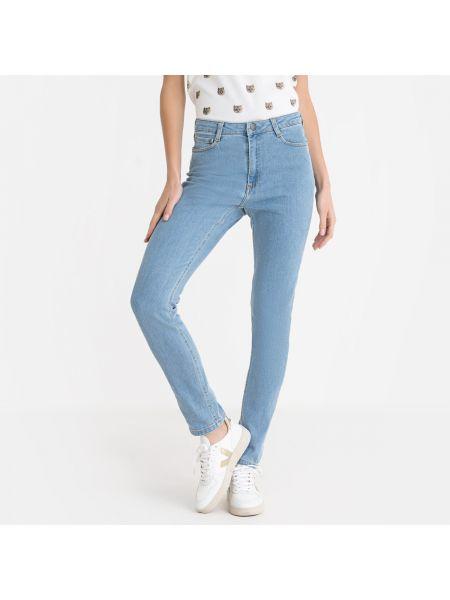 Хлопковые белые джинсы-скинни с карманами с пайетками Paul & Joe Sister
